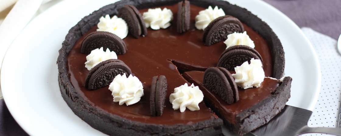 Tarte de CHOCOLATE e Oreo