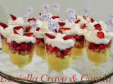 Receita Mini-pavê de morango com chantilly