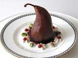 Recipe Sharing our holiday table {pomegranate poached pear recipe}
