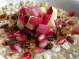 Recipe Spiced porridge with apple and pomegranate