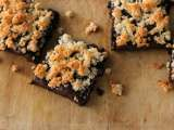 Recipe Cocoa brownies with crunchy macaroon topping