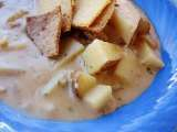 Recipe Friday kid's cooking class--french onion potato cheese soup and homemade wheat thins