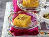 Pumpkin kalakand (cottage cheese pumpkin fudge)