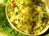 Recipe Sabsige soppu chitranna / fresh dill leaves rice