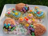 Recipe Easter goodies made from rice krispie treats