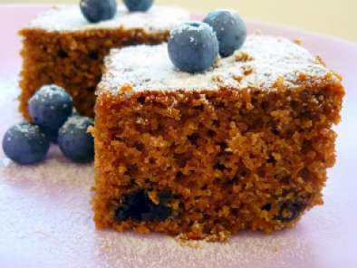 Receita Bolo integral de blueberry e geleia de blueberry