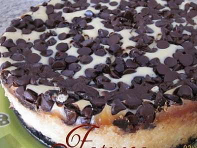 Receita Cheesecake de chocolate chip