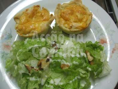 Receita Mini quiches