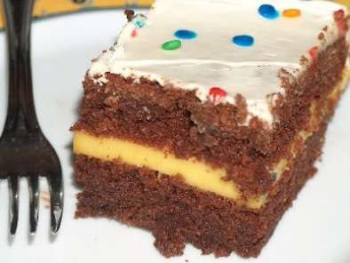 Receita Bolo de chocolate - the best chocolate sheet cake. ever