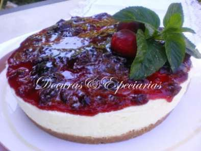Receita Cheesecake de cerejas