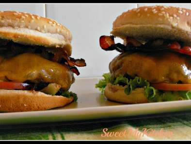 Receita Bacon cheeseburger