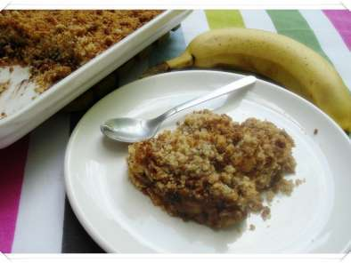 Crumble banana-chocolate-spéculoos