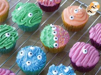 Receita Cupcakes monsters de halloween