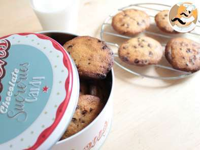 Receita Cookies com pepitas de chocolate