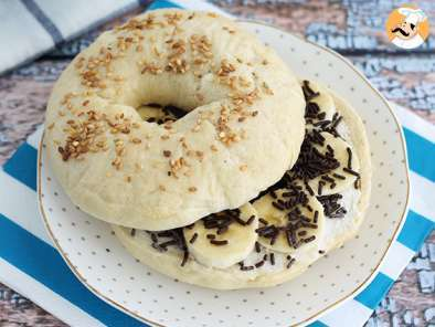 Receita Bagel chocolate e banana