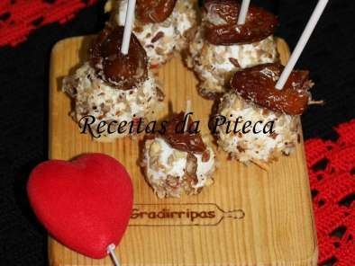 Receita Cheese pops com frutos secos
