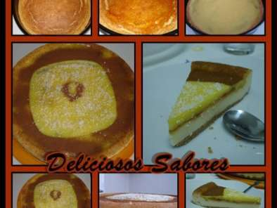 Receita Cheesecake no forno * creme custard