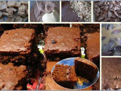 Receita Brownies de chocolate e caramelo