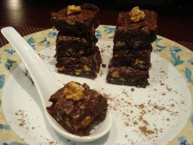 Receita Brownie de chocolate, canela e nozes