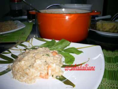 Receita Risotto de camarão c/ cream cheese e vodka