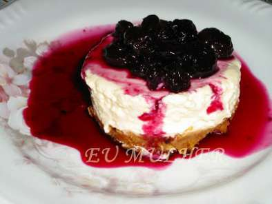 Receita Cheesecake de mirtilos