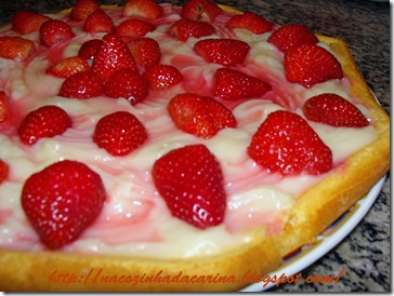 Receita Torta de morango light / diet