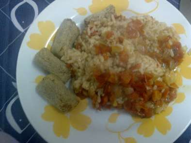 Receita Croquetes na actifry com risotto de tomate na fussion cook