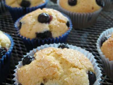 Receita Muffins de blueberry (mirtilo)