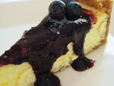 Receita Cheesecake e coulis de blueberry