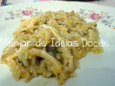 Receita Risotto de courgete e frango no churrasco