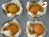 Passo 3 - Croc'Muffin de queijo, fiambre e ovo