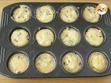 Passo 3 - Muffins com pepitas de chocolate, receita Americana