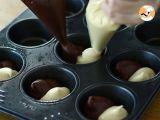 Passo 5 - Muffins duas cores (chocolate e baunilha)