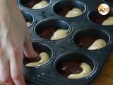 Passo 6 - Muffins duas cores (chocolate e baunilha)