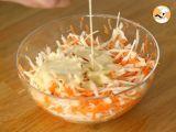 Passo 4 - Coleslaw (a salada americana de repolho e cenoura)
