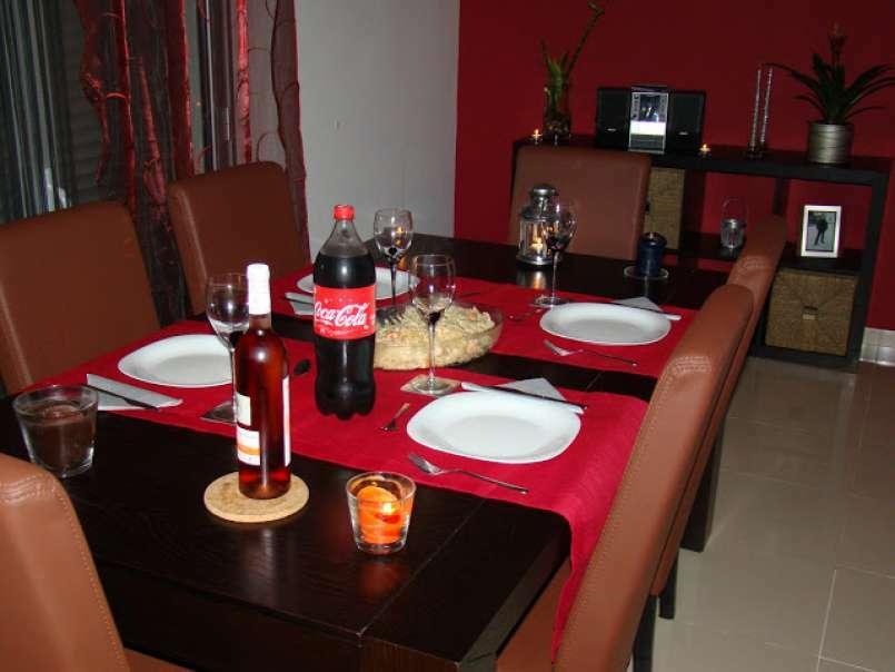 Jantar De Aniversário Da Lara Massada De Salmão Com Camarão