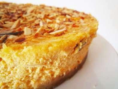 Cheesecake de abóbora e amêndoa