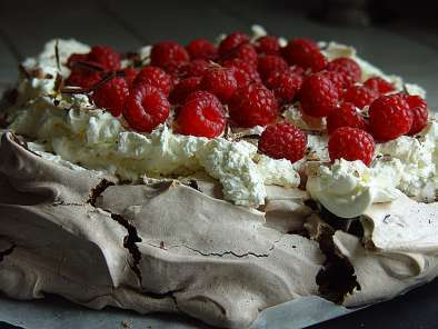 Pavlova de Chocolate da Nigella ou Gorduchella tirada do Blog da Mô