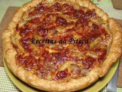 Quiche de beringela e bacon