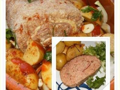 rolo de carne queijo e fiambre