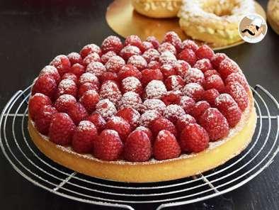 Tarte/torta de framboesas com creme de amêndoas, Receita ...